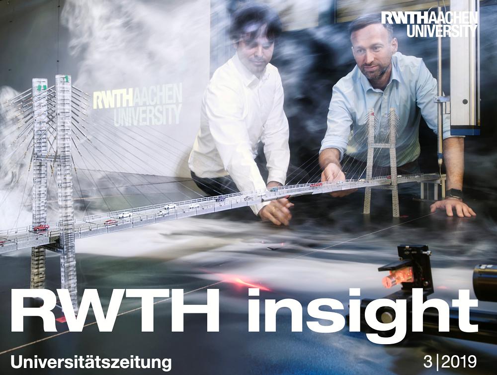 Die Universitätszeitung RWTHInsight erscheint 3-4 Mal pro Jahr und informiert über interessante Projekte an der RWTH